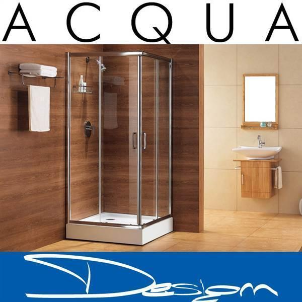 ACQUA DESIGN ® Design shower tray with glass AMELIE 80x80