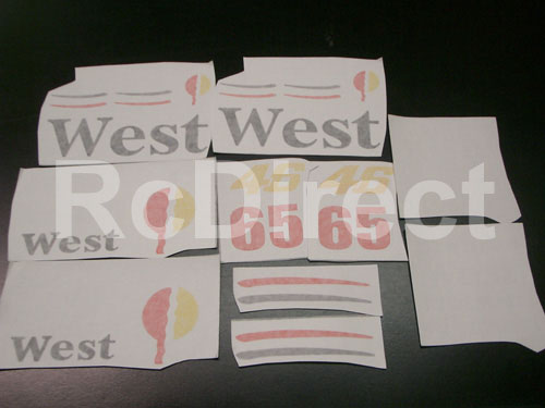 Adhesive WEST for Minibike (Pocket Bike)
