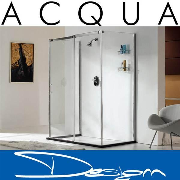 ACQUA DESIGN® Design shower enclosure AVERY including base